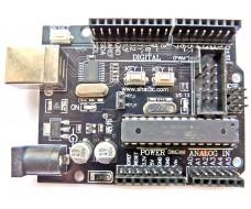 Arduino Uno R3 (ATmega328, usb-ttl CH340) c дополнительными  разъемами