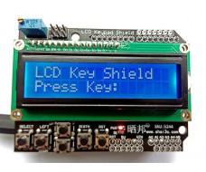 ЖК-дисплей 1602 c 6 кнопками LCD Keypad Shield, Arduino UNO шелд
