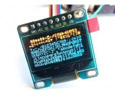 Модуль дисплей OLED 0,96 дюймов,SPI, I2С, 128x64 px. 2 цв. для Arduino