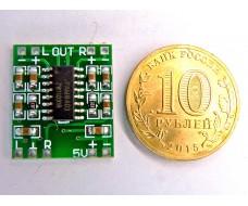 Ультра-миниатюрный цифровой аудио усилитель 2 x 3W  PAM8403