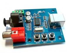 Портативный ЦАП, звуковая карта на PCM2704.