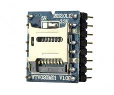 Звуко-музыкальный модуль MicroSD WTV020-SD