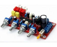 Предусилитель, темброблок, LM1036, управление, верха, низа, громкость