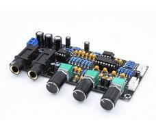 Модуль управления микрофоннами, с ревербирацией PT2399. 2 канала
