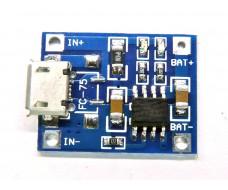 Плата заряда аккумуляторов Li-Ion 18650, micro USB, TP4056