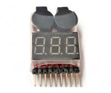 Тестер-индикатор для аккумуляторных сборок 1-8S Li-Ion, Li-po, 18650