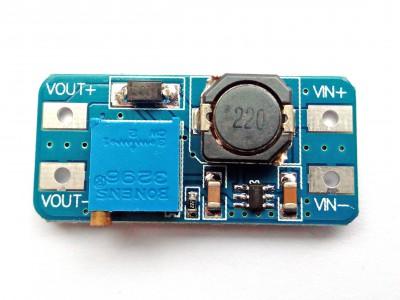 Преобразователь повышающий регулируемый DC-DC MT3608 5 - 28V 2А