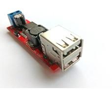 Преобразователь понижающий DC-DC LM2596 до 40V, выход USB 5V 2A