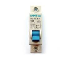 Автоматический выключатель 1P Chint DZ47-60 C25, 6000A 50Hz