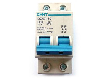 Автоматический выключатель 2P Chint DZ47-60 C50
