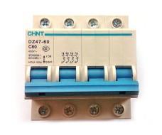 Автоматический выключатель 4P Chint DZ47-60 C60
