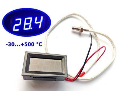 Встраиваемый электронный термометр с LED дисплеем, -30...+500 °C