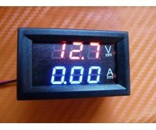 Вольт-амперметр, цифровой встраиваемый 0-100В, 0-50А