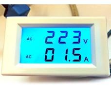 Цифровой вольтметр, AC 80 - 300 В, 0 - 50 А. (переменный ток)