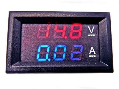 Вольт-амперметр, цифровой встраиваемый 0-100В, 0-10А