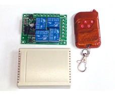 Исполнительное устройство c пультом 433Мгц, 4 канальное управление 12В