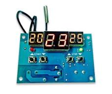 Цифровой программируемый термостат, от -9 до 99 °С, питание 12 В