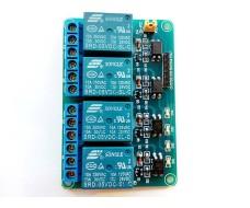 Релейный модуль - 4 канала, управление 5В, максимальный ток 10А