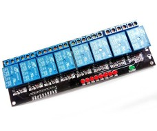 Релейный модуль - 8 каналов, управление 5В, максимальный ток 10А