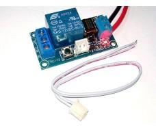 Релейный модуль с кнопкой, Вкл. / Выкл, 12В, нагрузка AC 220В, 1500Вт