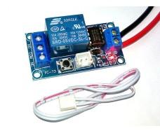 Релейный модуль с кнопкой, Вкл. / Выкл, 5В, нагрузка AC 220В до 1500Вт