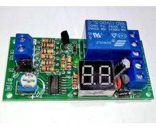 Модуль задержки включения или запуска на время 1-99 с/м, с экраном 12В