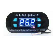 Цифровой встраеваемый терморегулятор, 4 кнопки, -55 +120С, 12В