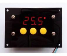 Цифровой встраеваемый терморегулятор, двухрежимный -40 +100С, 12 вольт