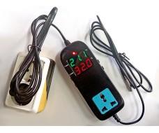 Цифровой программируемый терморегулятор розетка -40... +120 С