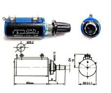 Многооборотный резистор (потенциометр) с ручкой 1 кОм WXD3-13-2W