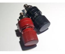 Мощная клеммная колодка, комплект из 2 штук, черная и красная 8 мм.