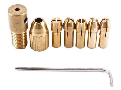 Цанговый зажим 2мм комплект 5 насадок 0.5-3мм с ключом